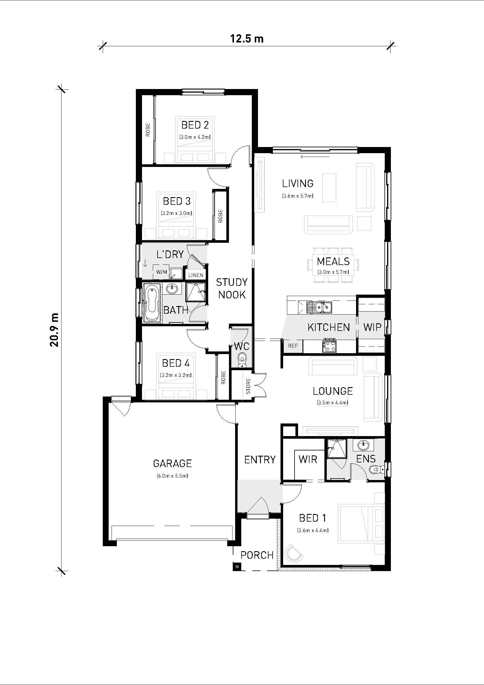 Flinders 221 Floorplan